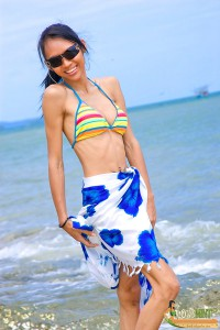 ladyboy long mint on the beach